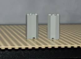 Lego Lot 2x Support Pilier Octogonale Gris 2x2x3 Ref 6037 - Lego Technic