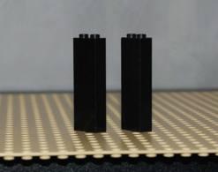 Lego Lot 2x Support Pilier Noir 1x2x5 Ref 2454 - Lego Technic
