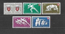 1950 - N. 497/501** (CATALOGO UNIFICATO) - Svizzera