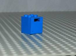 Lego Container Box Bleu Space 2x2x2 Ref 4345a Et Porte Ref 4346 - Lego Technic