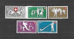1951 - N. 507/11** (CATALOGO UNIFICATO) - Svizzera
