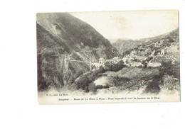 Cpa - 38 - Route De LA MURE à MENS - Pont Suspendu - P.G. - 1912 - Mens