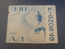 Faire-part, Invitation Nuits Des A&M FIGNOS 49 Journée Des FIGNOS 1949 - Announcements