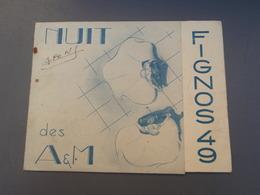 Faire-part, Invitation Nuits Des A&M FIGNOS 49 Journée Des FIGNOS 1949 LILLE - Faire-part