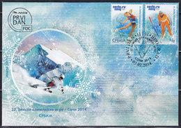 Serbia 2014 Winter Olympic Games In Sochi, FDC - Serbie
