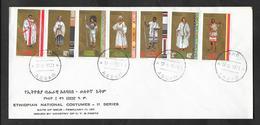 ETHIOPIA F.D.C. FIRST DAY COVER 1971 ETHIOPIAN NATIONAL COSTUMES - Etiopia