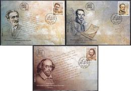 Serbia 2014 Art - Writers (William Shakespeare), FDC - Serbie