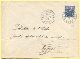 FRANCIA - France - 1929 - 50c Jeanne D`Arc - Viaggiata Da Sainte-Savine Per Troyes - Storia Postale