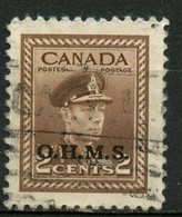 Canada 1949 Official 2 Cent King George VI War Issue Overprinted OHMS #O2 - Officials
