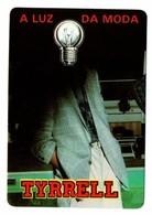 CALENDARIO DE BOLSILLO CALENDAR BOMBILLA LIGHTBULB LUZ ELÉCTRICA AMPOULE LIGHT BULB 1988 PORTUGAL A LA DA MODA TYRRELL - Tamaño Pequeño : 1981-90