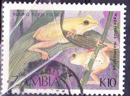 Sambia Zambia - Marmor-Riedfrosch (Hyperolius Marmoratus) (Mi.Nr.: 473) 1989 - Gest Used Obl - Zambia (1965-...)
