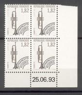 Coins Datés Preoblitérés 1993 N° 228 à 231 Neufs XX Sans Charnières Ni Traces - Trompette - Tambourin- Vielle - Xylophon - 1989-....
