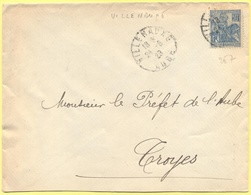 FRANCIA - France - 1929 - 50c Jeanne D`Arc - Viaggiata Da Villenauxe-la-Grande Per Troyes - Storia Postale