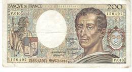 Billet De 200 Francs Montesquieu 1982 - 1962-1997 ''Francs''