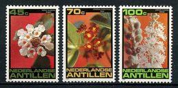 ANTILLES NEERL 1981 N° 644/646 ** Neufs  MNH  Superbes C 4,50 € Flore Fleurs Croton Flavens Cordia Globosa Flowers - Antilles