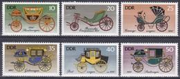 Deutschland Germany DDR 1976 Transport Verkehr Traffic Fahrzeuge Kutschen Carriages Coaches, Mi. 2147-2 ** - DDR