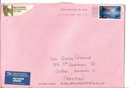 USA Airmail 2006 84c Yosemite National Park Postal History Cover Sent To Pakistan. - Brieven En Documenten