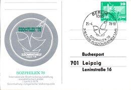 "DDR Amtliche Ganzsache ""Neptunbrunnen,10Pf. Smaragdgrün"" ""SOZPHILEX'78"" P83 B, SSt 25.4.78 BERLIN - Cartes Postales - Oblitérées"