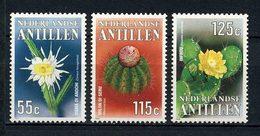 ANTILLES NEERL 1988 N° 838/840 ** Neufs  MNH  Superbes C 6,25 € Flore Fleurs Cactus Cereus Hexagonus Cactées Flowers - Antilles