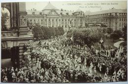 DÉFILÉ DES SOCIÉTÉS - PLACE DE LA RÉPUBLIQUE - 14 JUILLET 1919 - STRASBOURG - Strasbourg