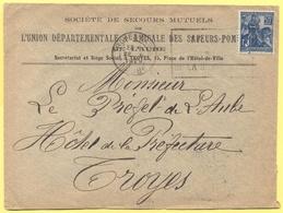 FRANCIA - France - 1929 - 50c Jeanne D`Arc + Flamme - Société De Secours Mutuels De L'Union Départementale & Amicale Des - Storia Postale