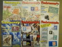 TIMBROSCOPIE DU N°1 AU N° 6 - 1984 - Zeitschriften