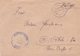 German Feldpost WW2: From Danzig, Zoppot: A Stabsartz In 4. Leichtkranken-Kriegslazarett Kriegslazarett-Abteilung 608 - Militaria