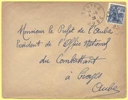 FRANCIA - France - 1929 - 50c Jeanne D`Arc - Viaggiata Da Troyes Per Troyes - Storia Postale