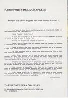 Encart Officiel 1988 Du Baptême Du Bureau De PARIS 143 Baptisé PARIS PORTE DE LA CHAPELLE - Marcofilia (sobres)