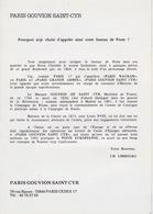 Encart Officiel 1988 Du Baptême Du Bureau De PARIS 144 Baptisé PARIS GOUVION ST CYR Rue Bayen - Marcofilia (sobres)