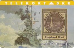 Denmark, TP 063, 5kr,  Rare Stamps - U-Boot Marke, Mint, Only 2000 Issued, Lighthouse, 2 Scans. - Denmark