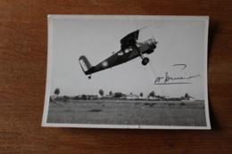 Photo Aviation  Avion  Decolage   Avec Dedicace Vers 1930 - Aviation