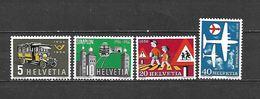 1956 - N. 572/75** (CATALOGO UNIFICATO) - Svizzera