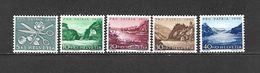 1956 - N. 576/80** (CATALOGO UNIFICATO) - Svizzera