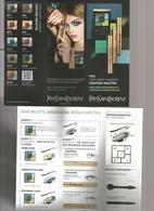 1 Petit Dépliant YSL Allemand 2014 - Perfume Cards