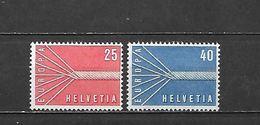 1957 - N. 595/96** (CATALOGO UNIFICATO) - Svizzera