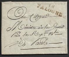 AN 7 - 48 VALOGNE 42mm X 11mm (Manche)- Ecrit A Le MINISTRE DE LA JUSTICE A PARIS.TB - 1701-1800: Précurseurs XVIII