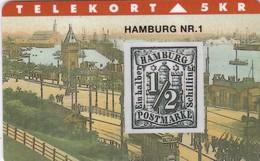 Denmark, TP 070, 5kr,  Rare Stamps - Hamburg Nr. 1, Mint, Only 2000 Issued, 2 Scans - Denmark