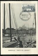 MARSEILLE . PORTE DE L'ORIENT . 15 OCTOBRE 1955 . MARSEILLE . - FDC