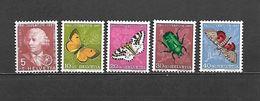 1957 - N. 597/601** (CATALOGO UNIFICATO) - Svizzera