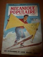 1953 MÉCANIQUE POPULAIRE:Magie Et Ultrasons;Tours De Cartes;Rayons Atomiques;Comment Faire Un Xilophon ; Etc - Wissenschaft & Technik
