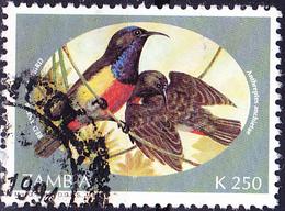 Sambia Zambia - Feuerbrustnektarvogel (Aethopyga Flagrans) (Mi.Nr.: 632) 1994 - Gest Used Obl - Zambia (1965-...)