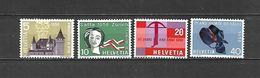 1958 - N. 602/05** - N. 611** (CATALOGO UNIFICATO) - Svizzera