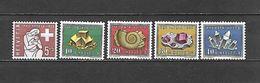 1958 - N. 606/10** (CATALOGO UNIFICATO) - Svizzera
