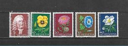 1958 - N. 616/20** (CATALOGO UNIFICATO) - Svizzera