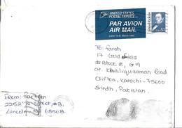 USA 1989 $1 Johns Hopkins Great Americans Postal History Cover Sent To Pakistan. - Brieven En Documenten