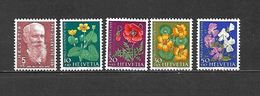 1959 - N. 634/38** (CATALOGO UNIFICATO) - Svizzera