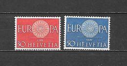 1960 - N. 666/67** (CATALOGO UNIFICATO) - Svizzera
