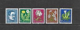 1960 - N. 668/72** (CATALOGO UNIFICATO) - Svizzera