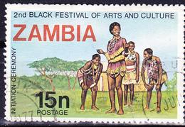 Sambia Zambia - Einführungszeremonie Ins Festival (Mi.Nr.:187) 1977 - Gest Used Obl - Zambia (1965-...)